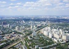 Vue supérieure de grande ville pendant l'été Photos libres de droits