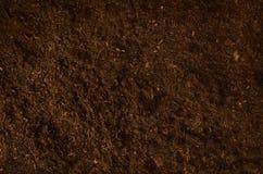 Vue supérieure de jardin de sol de fond fertile de texture Photos libres de droits