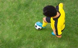 Vue supérieure de joueur de football photo libre de droits