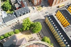 Vue supérieure de la belle architecture de Copenhague denmark Architecture photos stock