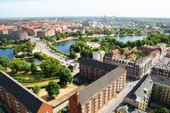 Vue supérieure de la belle architecture de Copenhague denmark Architecture photo stock