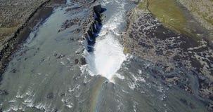 Vue supérieure de la cascade du nord clips vidéos