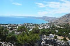 Vue supérieure de la mer Méditerranée Photo stock