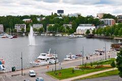Vue supérieure de Lappeenranta Photographie stock libre de droits