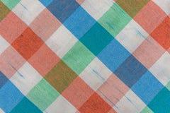 Vue supérieure de modèle de tissu de tartan Images libres de droits