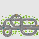 Vue supérieure de modèle sans couture des routes Photo libre de droits