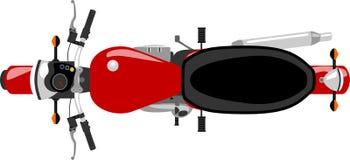 Vue supérieure de moto de Caferacer Image libre de droits