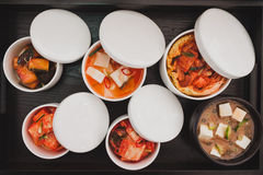 Vue supérieure de nourriture traditionnelle japonaise Photo stock