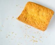 Vue supérieure de pain grillé photos stock