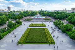 Vue supérieure de parc de Gorki, à Moscou Image stock