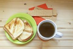 Vue supérieure de petit déjeuner savoureux Photos libres de droits