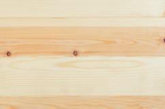 Vue supérieure de pin en bois de fond frais de planches Photographie stock