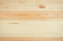 Vue supérieure de pin en bois de fond frais de planches Photographie stock libre de droits