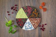 Vue supérieure de pizza de chocolat Photographie stock libre de droits