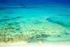 Vue supérieure de plage et de mer image libre de droits
