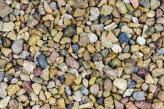 Vue supérieure de plan rapproché des pierres de caillou photo stock