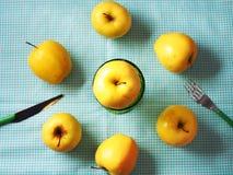 Vue supérieure de pommes Photo stock