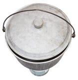 Vue supérieure de pot de suie campant sur le brûleur à gaz Photos libres de droits