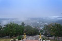 Vue supérieure de province de maehongson de Thaïlande Photos libres de droits