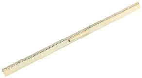 Vue supérieure de règle en bois de mètre Photo stock