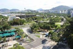 Vue supérieure de Rio de Janeiro Images stock