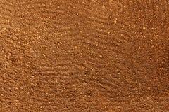Vue supérieure de sol labouré arable de terre image stock