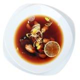 Vue supérieure de soupe à Suimono Images libres de droits