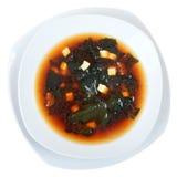 Vue supérieure de soupe miso Photos stock