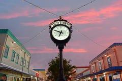 Vue supérieure de style européen de montre de cru à la vieille ville de Kissimmee dans la région de 192 routes photo libre de droits