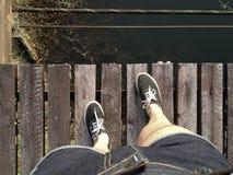 Vue supérieure de support de pied Photographie stock