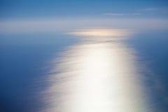 Vue supérieure de surface de mer de l'eau photo libre de droits
