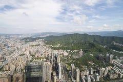 Vue supérieure de Taïpeh Taïwan de tour Photo stock