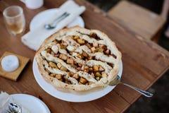 Vue supérieure de tarte aux pommes américaine photo stock