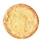 Vue supérieure de tarte de lait caillé Image libre de droits