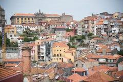 Vue supérieure de toit de Porto Photos libres de droits