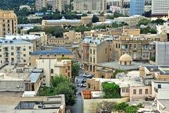Vue supérieure de vieille ville de Bakou Image libre de droits