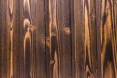 Vue supérieure de vieux de table fond en bois foncé de texture Images libres de droits