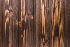 Vue supérieure de vieux de table fond en bois foncé de texture Photographie stock libre de droits