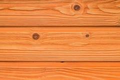 Vue supérieure de vieux de table fond en bois orange de texture Images libres de droits