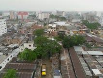Vue supérieure de ville de Dacca Photos stock