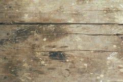 Vue supérieure de vintage et de vieux fond en bois de table Photos stock
