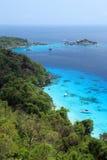 Vue supérieure des îles de Similan images stock