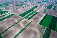 Vue supérieure des colis agricoles Images libres de droits