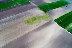 Vue supérieure des colis agricoles Photos stock