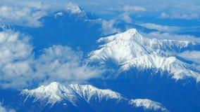 Vue supérieure des collines de neige Photographie stock