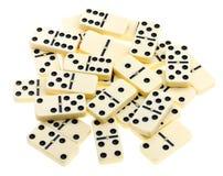 Vue supérieure des dominos dispersés Photos libres de droits