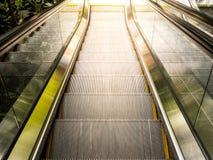Vue supérieure des escalators Photographie stock