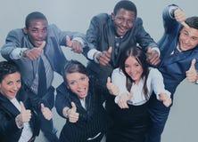 Vue supérieure des gens d'affaires avec leurs mains ensemble Image libre de droits