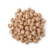 Vue supérieure des granules expulsés de son de blé Photos libres de droits