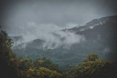 Vue supérieure des montagnes de bandadka photo stock